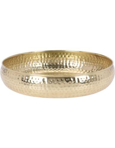 Taca / Misa metalowa złota  D30cm