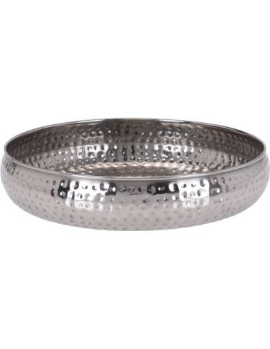 Taca / Misa metalowa srebrna D30cm
