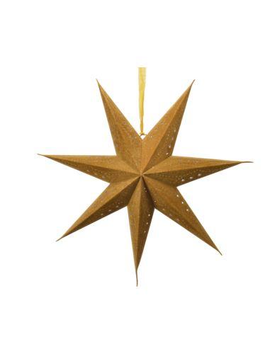 Gwiazda papierowa złota z połyskiem D60cm