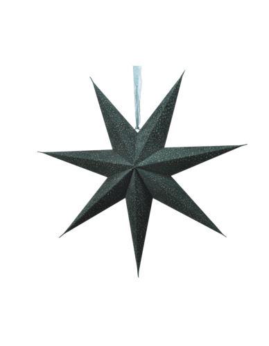 Gwiazda papierowa ciemnozielona z połyskiem D60cm