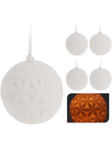 Bombka/Lampion Biała LED 7,5 cm