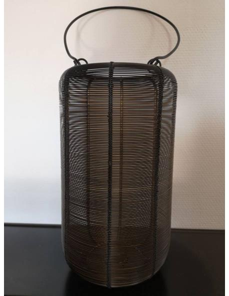 LAMPION DRUT CZARNY ZŁOTO H32CM M